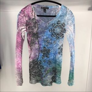🌴 NWOT Pinwheel Water color Shirt Top S